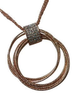 Cache Gorgeous circle/rhinestone accent necklace