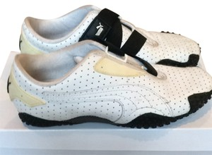 085b78c03fc137 Added to Shopping Bag. Puma Black   White Athletic. Puma Black   White Mostro  Perf Leather Sneakers ...