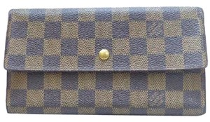Louis Vuitton 100% Authentic Louis Vuitton Brown Damier Tresor International Wallet