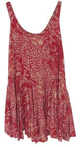 Free People short dress Red patterned on Tradesy