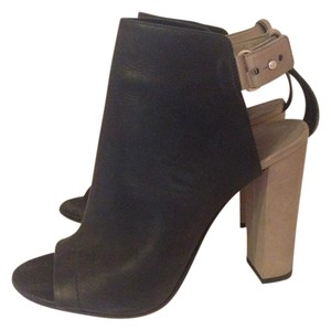 Vince Open Toe Black Boots