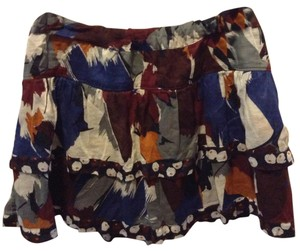 Hollister Mini Skirt Burgundy, blue,multi color.