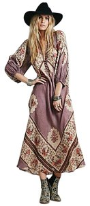 purple and print Maxi Dress by Free People Boho