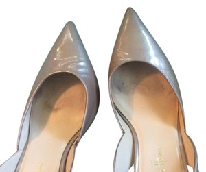 COLE HAAN AIR NIKE 7m TAUPE/BEIGE PATENT LEATHER Pumps