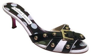 Christian Lacroix White Black Sandals