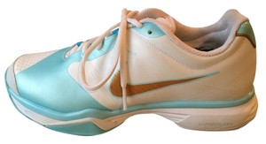 Nike Tennis Ortho-lite Lunar Speed Fly Wire Maria Sharapva Collection Size 9 White, icy blue, gold Athletic