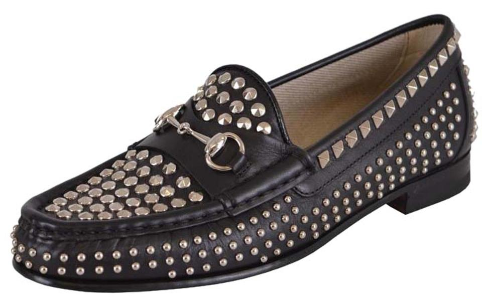 b0b9f4c456ab Gucci Loafers Womne s Loafers Loafers Studded Loafers Black Flats Image 0  ...