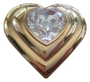 Saint Laurent Yves Saint Laurent Paris Poudre Ecrin Crystal Heart Jeweled Compact YSL