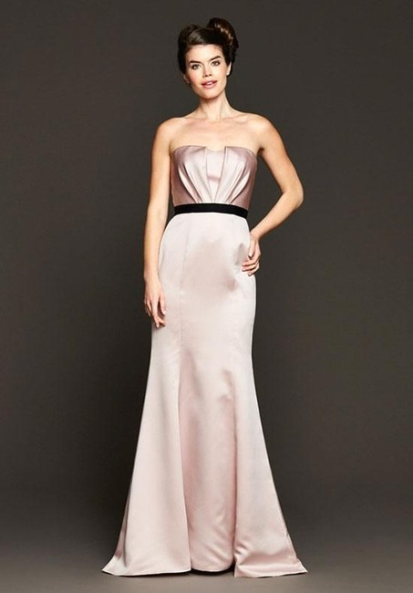 Item - Blush Satin Bm15-2 Formal Bridesmaid/Mob Dress Size 8 (M)