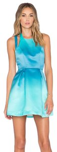 Lovers + Friends A-line Party Blue Green Dress