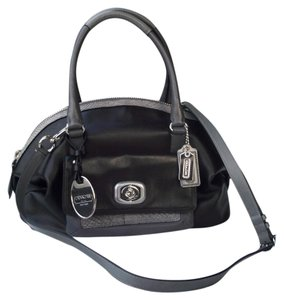 Coach Dome Colorblock Erin 18974 Python Satchel in black