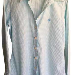 Lilly Pulitzer Button Down Shirt Blue & white