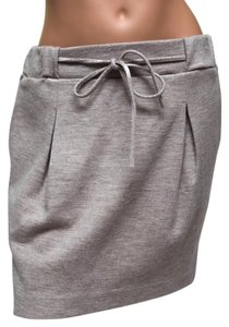 Calypso St. Barth Wool Pockets Skirt Gray