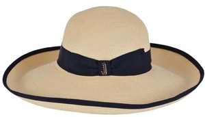 Gucci NEW Gucci Women's 370639 $435 Wide Brim Straw Effect Floppy Plaque Logo Hat S