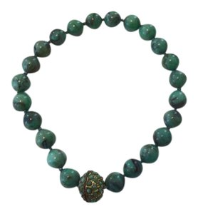 Green Magnetic Chunky Necklace