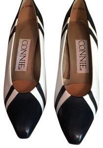 Connie Navy/white leather Pumps