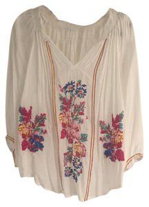 Melissa Odabash Flower Peasant Top