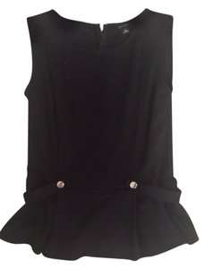 Ann Taylor Detailed Top Black