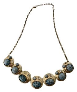 Anthropologie Anthropologie Gold & Turquoise Necklace