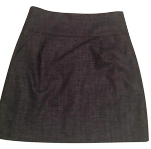 Theory Black Gray Pockets Mini Skirt black/Gray