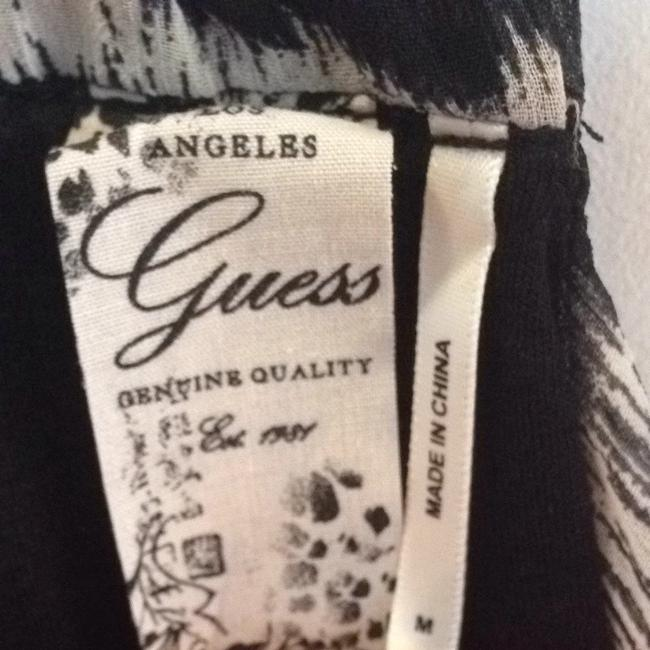 Guess Black W/ White Halter Top Image 3