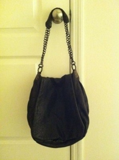 AllSaints Leather Chain Lambskin Hobo Bag