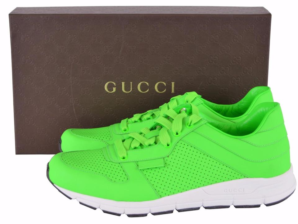 f260bd220 Gucci Men's Sneakers Sneakers Men's Trainers Men's Snekaers Neon Green  Athletic Image 9. 12345678910