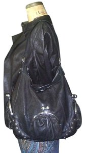 Betsey Johnson Kiss Locked Boutique Leather Hobo Bag