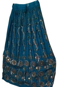 Unknown Skirt Blue Green & Gold