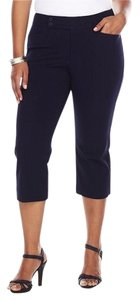 Chaps Cropped Capris Slimming Fit Capri/Cropped Pants Navy