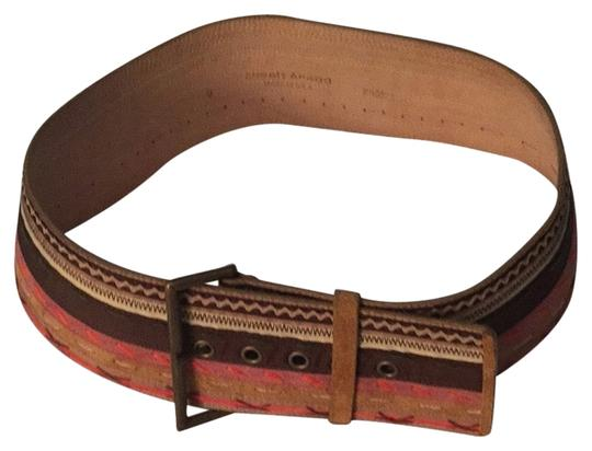 Preload https://item3.tradesy.com/images/streets-ahead-brown-orange-white-leather-belt-1611832-0-0.jpg?width=440&height=440