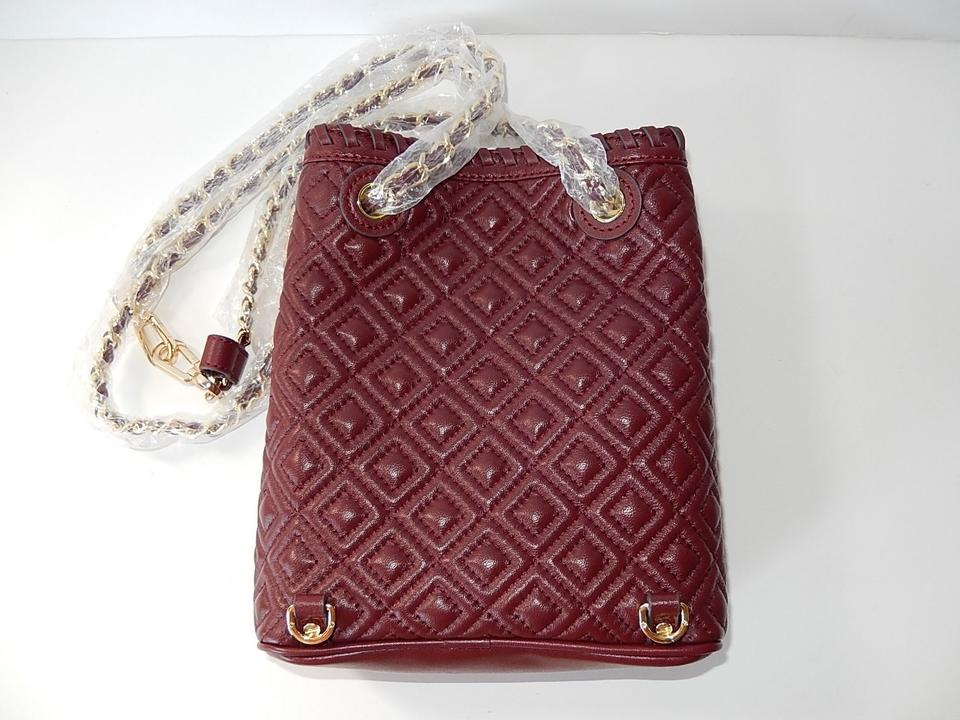 d67e7e055571 Tory Burch Marion Quilted Small Deep Berry Leather Backpack - Tradesy
