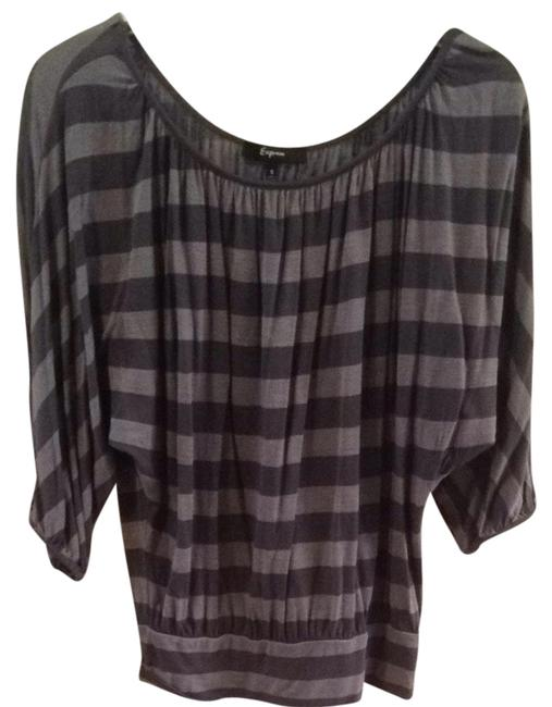 Preload https://item5.tradesy.com/images/express-gray-blouse-size-4-s-1611869-0-0.jpg?width=400&height=650