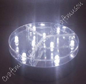 10 Piece Craftmusou 4 Inch Led Light Base With 9 White Led Lights