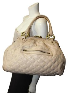 Marc Jacobs Stam Leather Stam Designer Leather Satchel in IVORY