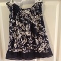 Abercrombie & Fitch Top Navy Blue & White Image 2