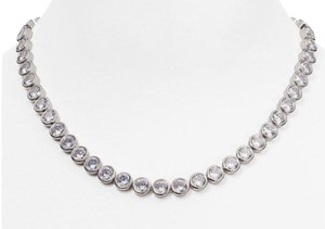 Michael Kors MICHAEL KORS PARK AVENUE SILVER TONE CRYSTAL PAVE NECKLACE MKJ4960 BAG