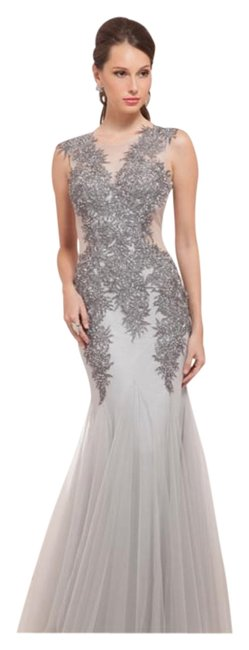 Item - Light Gray Sequin Mermaid Style Gown