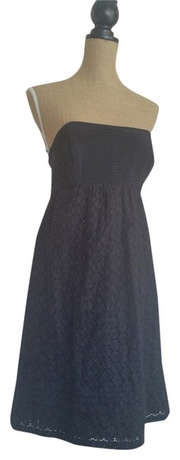 Shoshanna short dress Black Cute Flirty Sexy Classic Designer Eyelet on Tradesy