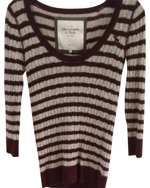 Preload https://item4.tradesy.com/images/abercrombie-and-fitch-maroon-gray-sweaterpullover-size-8-m-1611983-0-0.jpg?width=400&height=650