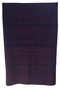 Pleasure Doing Business Skirt Navy with red stripes