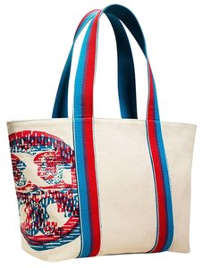 Tory Burch Tote in Blue Red