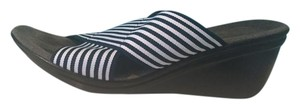 Navy and white stripe Sandals