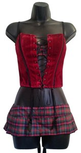 Dreamgirl Lingerie Corset Bustier Top Red