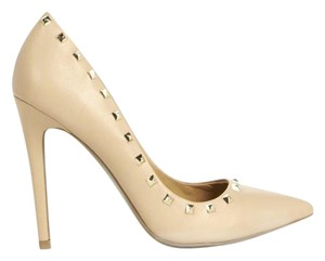 JustFab Stiletto Edgy Nude Pumps
