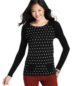 Ann Taylor LOFT Polka Dot Sweater