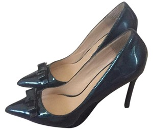 Shoemint Teal Patent Pumps