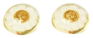 Chanel Chanel Vintage '50s-'60s Gold & Resin Camelia Earrings