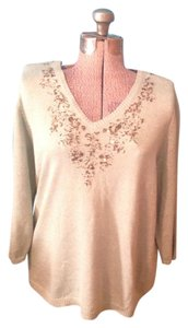 JM Collection Gold Beads Sequin Sweater