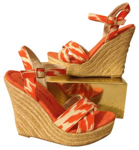 Chinese Laundry Orange and bone Wedges